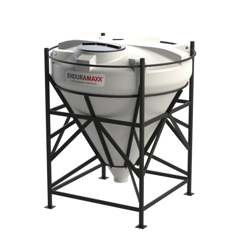 1752096002-F 2000 Litre Cone Tank With Frame - Natural