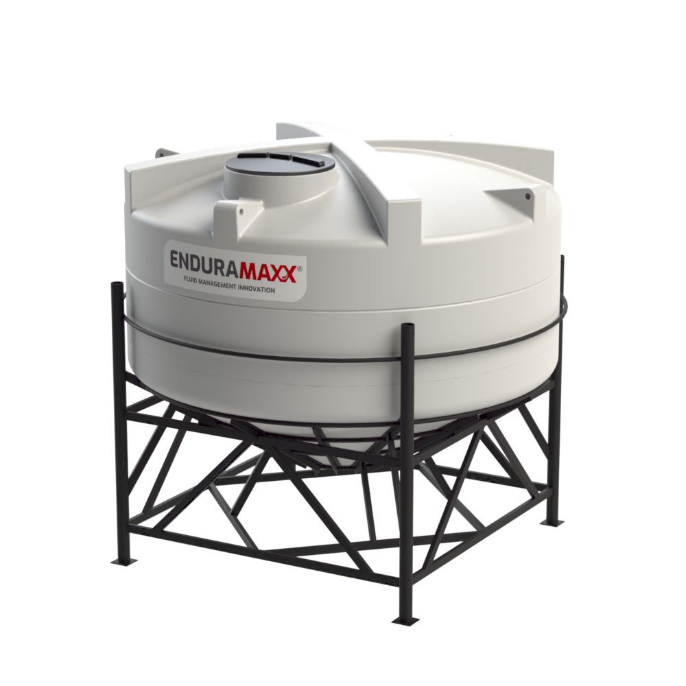 1752143002-F 8000 Litre Cone Tank With Frame - Natural