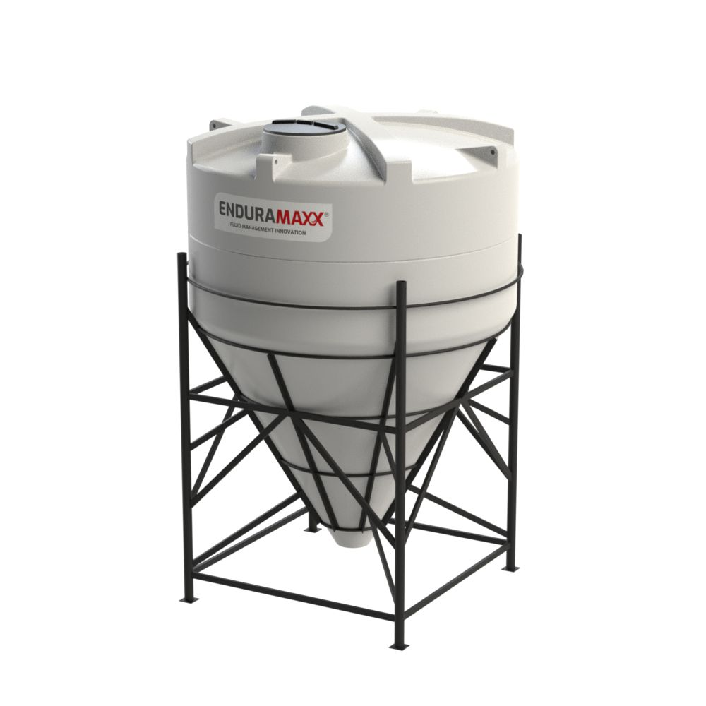 1752146002-F 10000 Litre Cone Tank With Frame - Natural