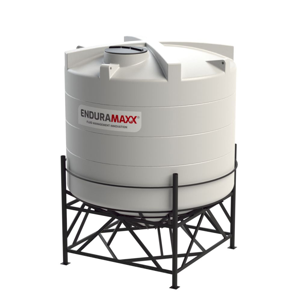 1752183002-F 10000 Litre Cone Tank With Frame - Natural