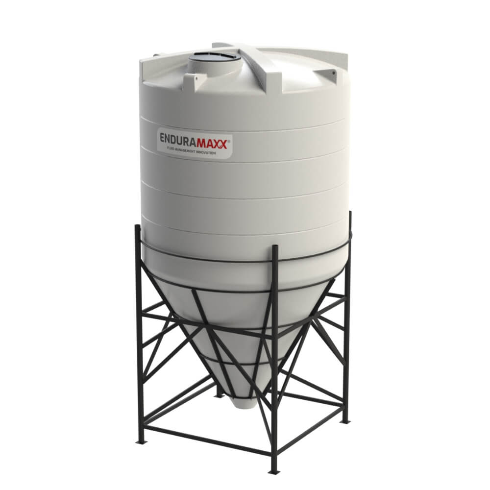 1752186002-F 12000 Litre Cone Tank With Frame - Natural