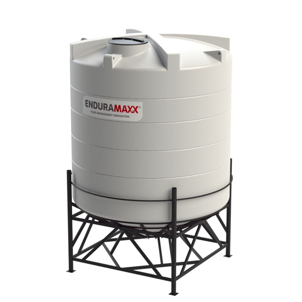 1752253002-F 14000 Litre Cone Tank With Frame - Natural