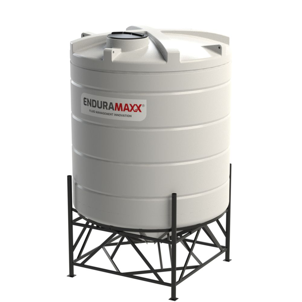 1752283002-F 15000 Litre Cone Tank With Frame - Natural