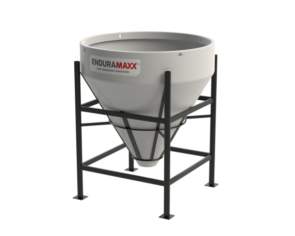 900 Litre Open Top Cone Tank - 60 degree Cone