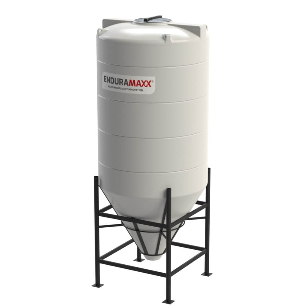 1752116002-F 3650 Litre Cone Tank With Frame - Natural
