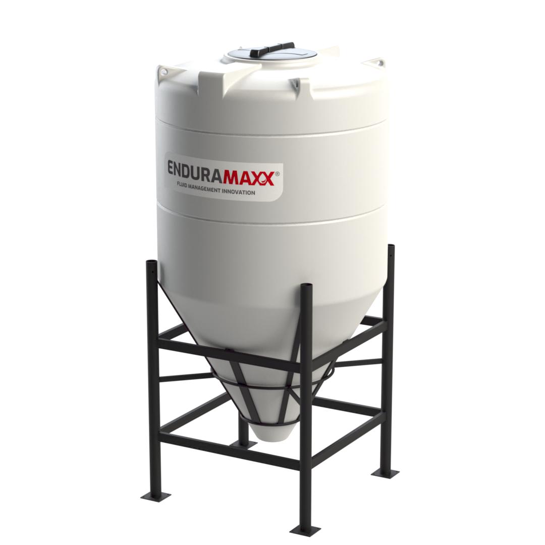 1600 Litre PVDF Cone Tank - 60 degree Polyvinylidene Fluoride