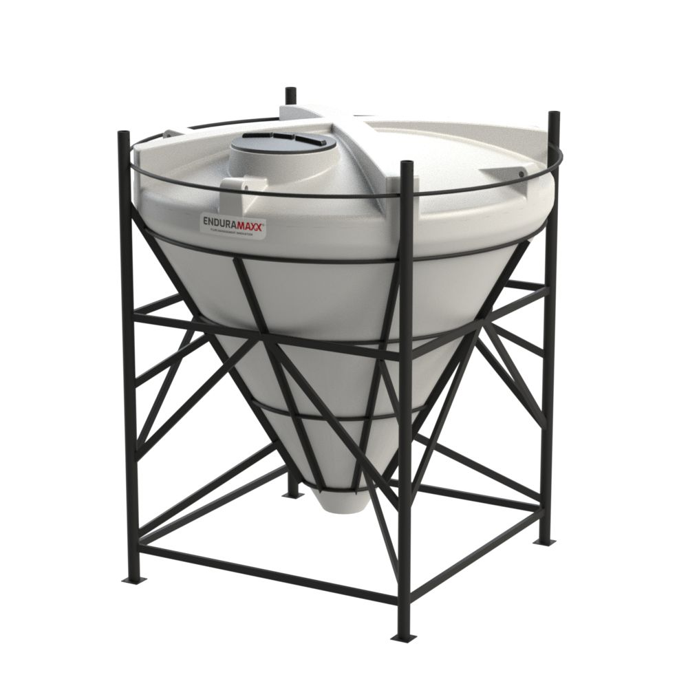 1752266002-F 5500 Litre Cone Tank With Frame - Natural