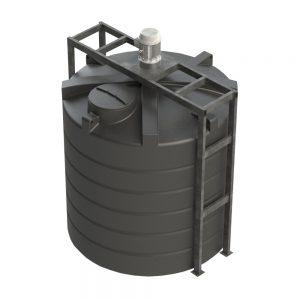 Closed Top Mixer Frame - Vertical Tank