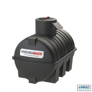 2,000 litre Fluid Category 5 Horizontal Potable Water Tank with Weir - Black