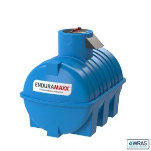 2,000 litre Fluid Category 5 Horizontal Potable Water Tank with Weir - Blue