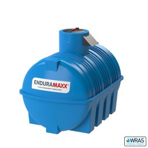 3,000 litre Fluid Category 5 Horizontal Potable Water Tank with Weir - Blue