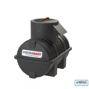 500 litre Fluid Category 5 Horizontal Potable Water Tank with Weir - Black