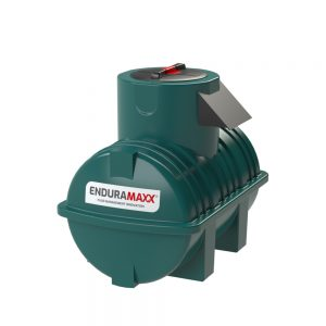 500 litre Fluid Category 5 Horizontal Potable Water Tank with Weir - Green