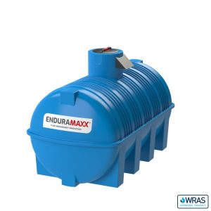 5,000 litre Fluid Category 5 Horizontal Potable Water Tank with Weir - Blue