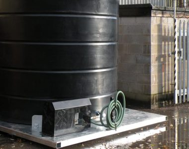 Bespoke base frame with vertical water tank