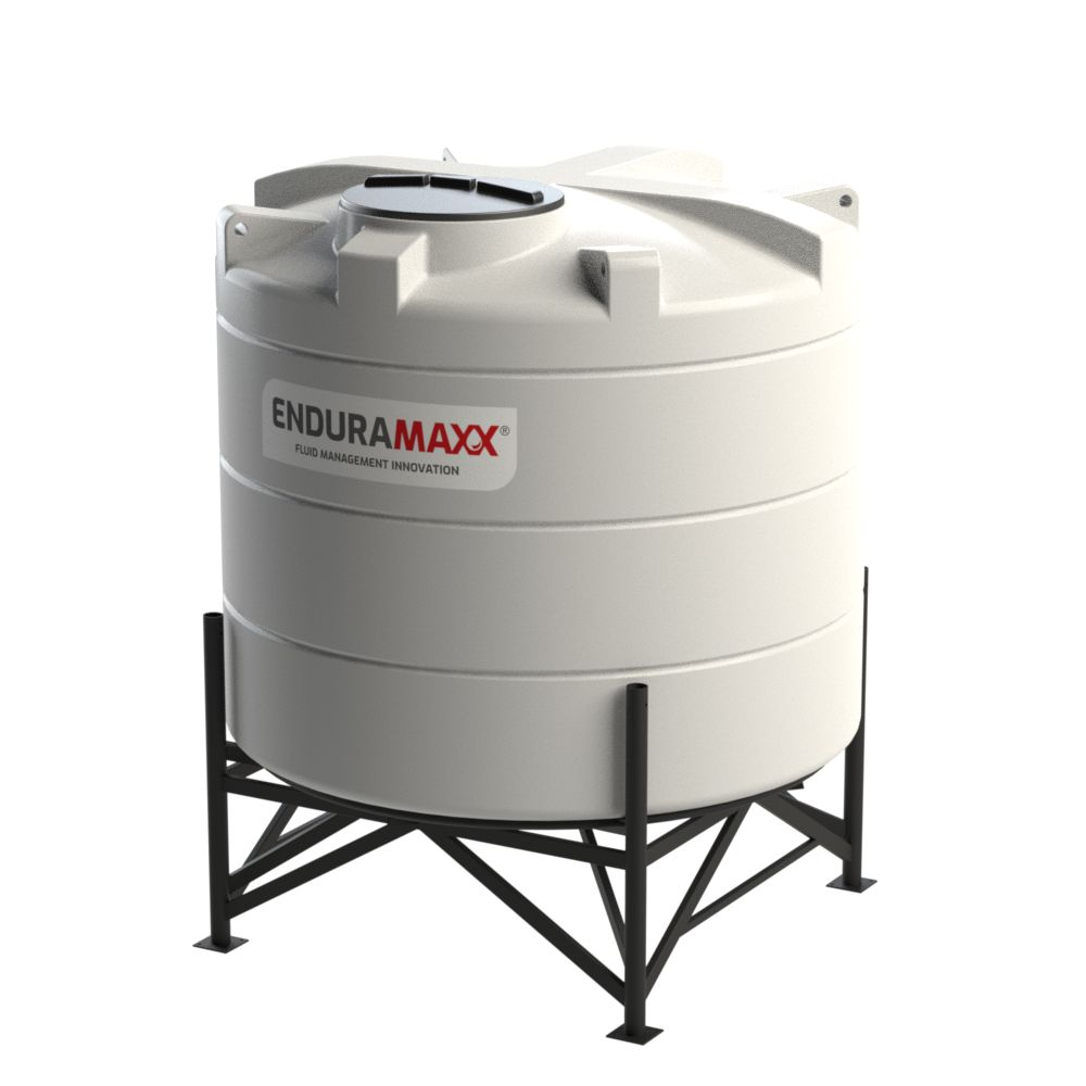 1752121502-F 4200 Litre Cone Tank With Frame - Natural