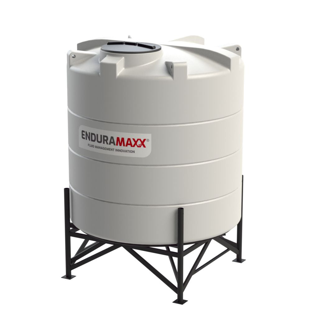 1752151502-F 5200 Litre Cone Tank With Frame - Natural