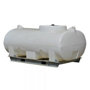 1,200 litre and 1,500 litre horizontal tank with frame