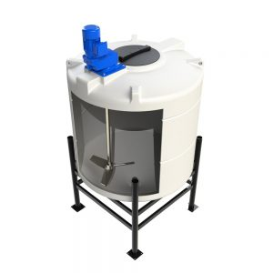 500 Litre 45 degree Cone Tank with Mixer Frame