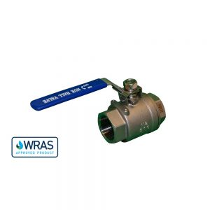 """178510-SSL - 1"""" F/F WRAS Approved Ball Valve - Stainless Steel - Lockable"""