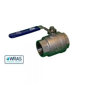 """178520-SSL - 2"""" F/F WRAS Approved Ball Valve - Stainless Steel - Lockable"""