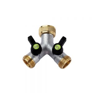 137006 - B Valve 2 Outlets - Brass