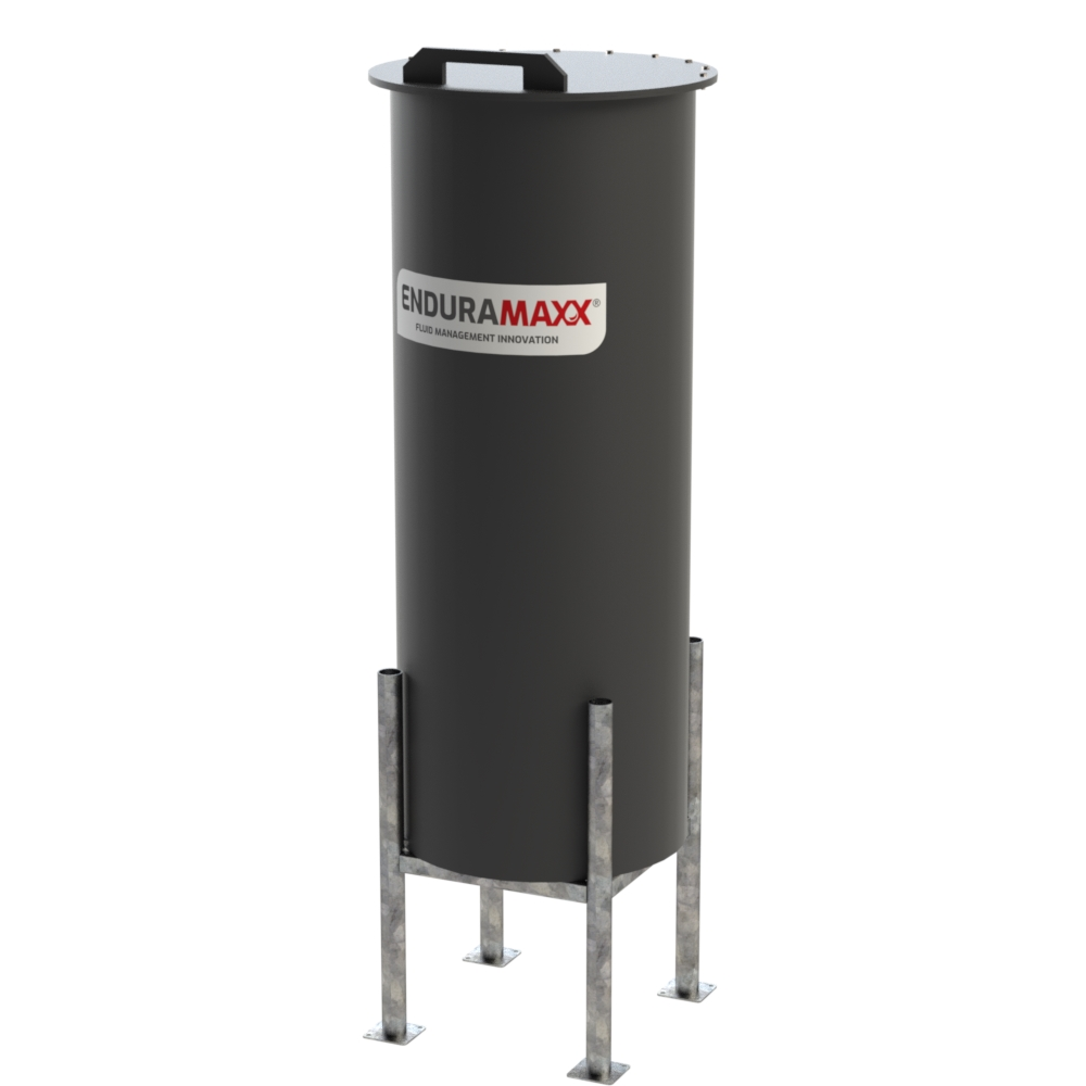 500 Litre Cone Batch Tank with Frame Black