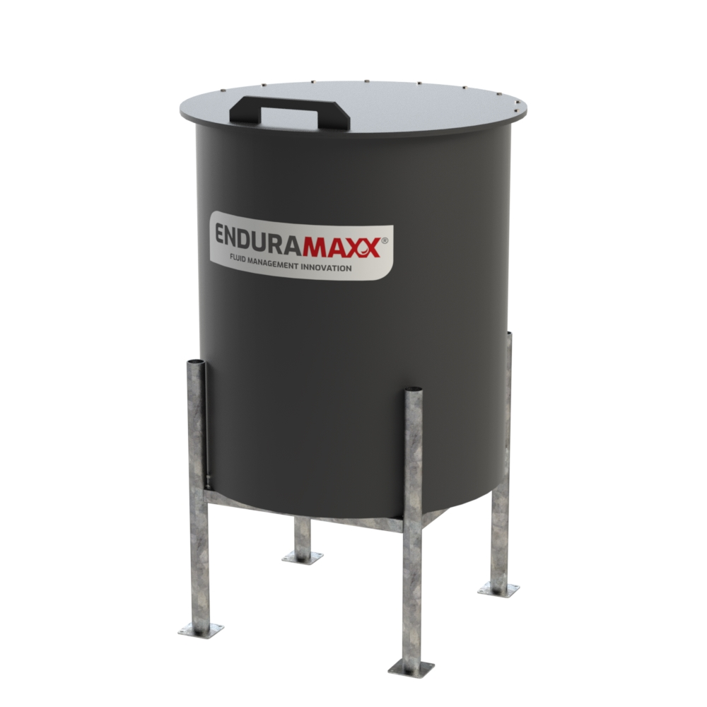 800 Litre Cone Batch Tank Black