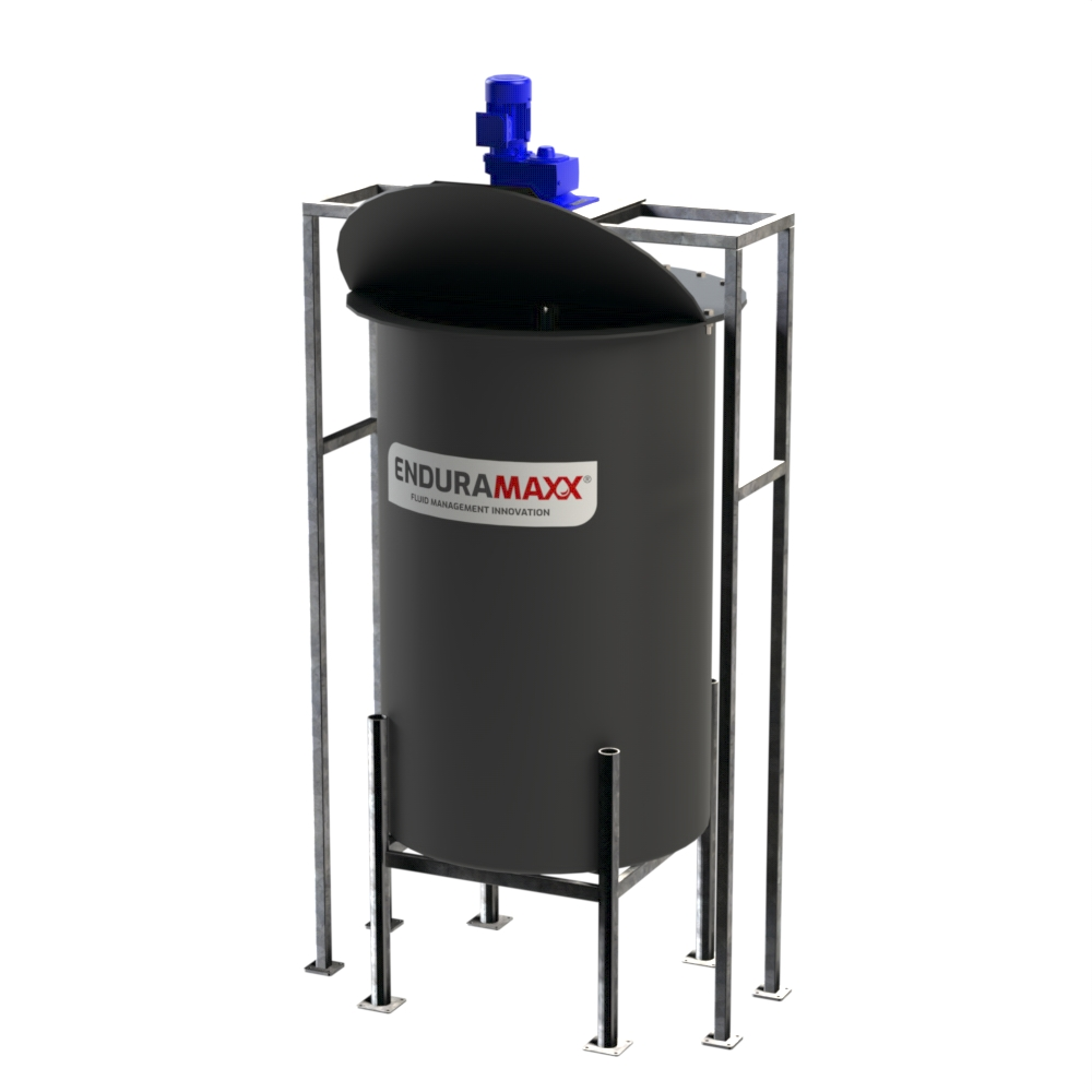 Conical Batch Tank With Hinged Lid