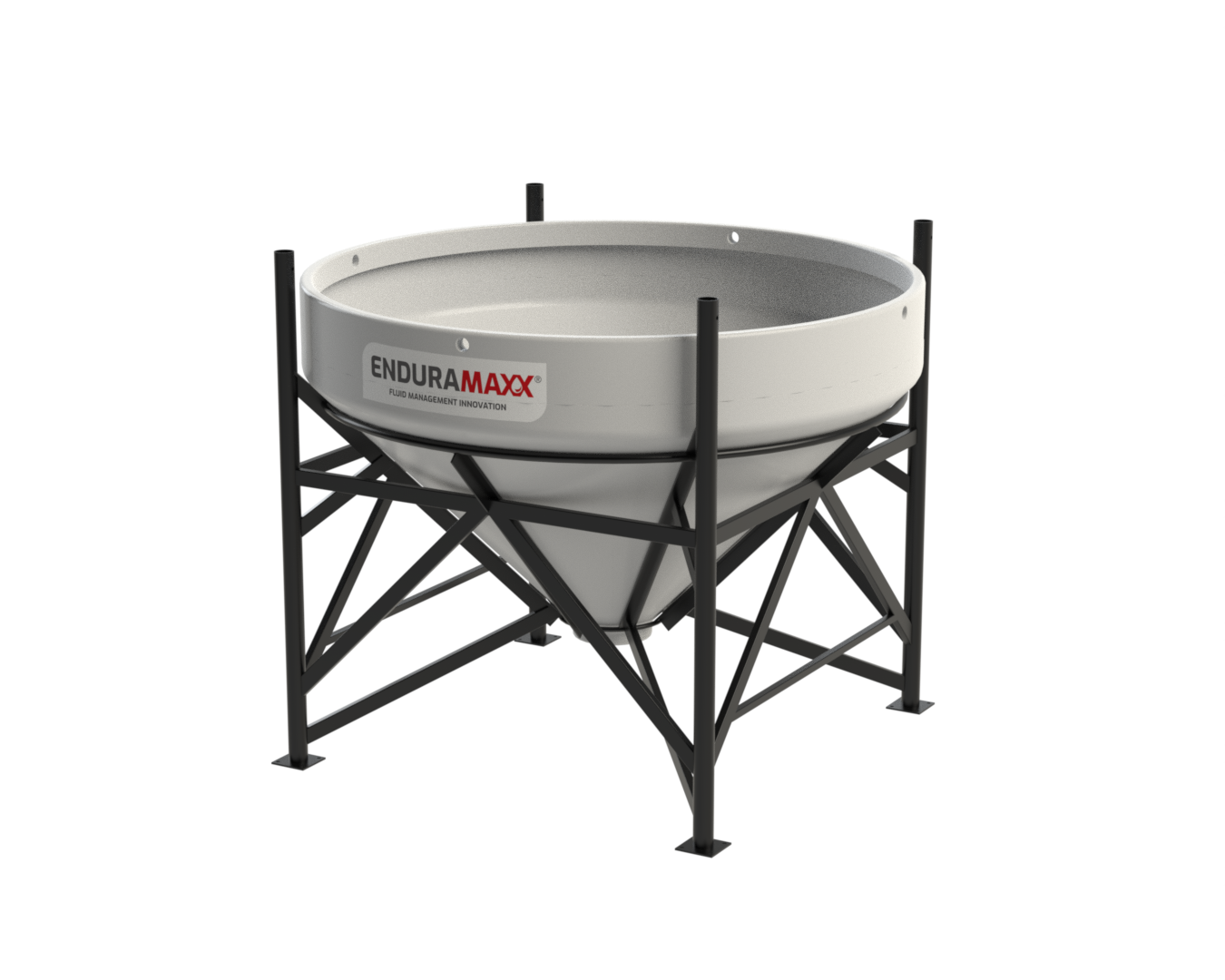17510945 1500 Litre Open Top Cone Tank – 45 Deg