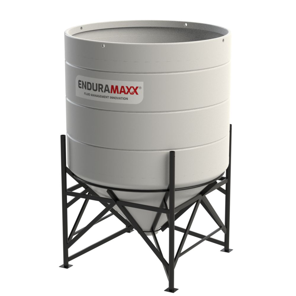 4000 Litre Open Top Cone Tank with Frame - 45° Cone Natural
